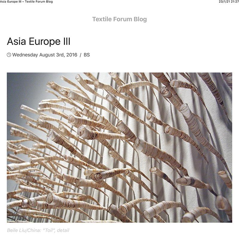 Asia Europe III – Textile Forum Blog