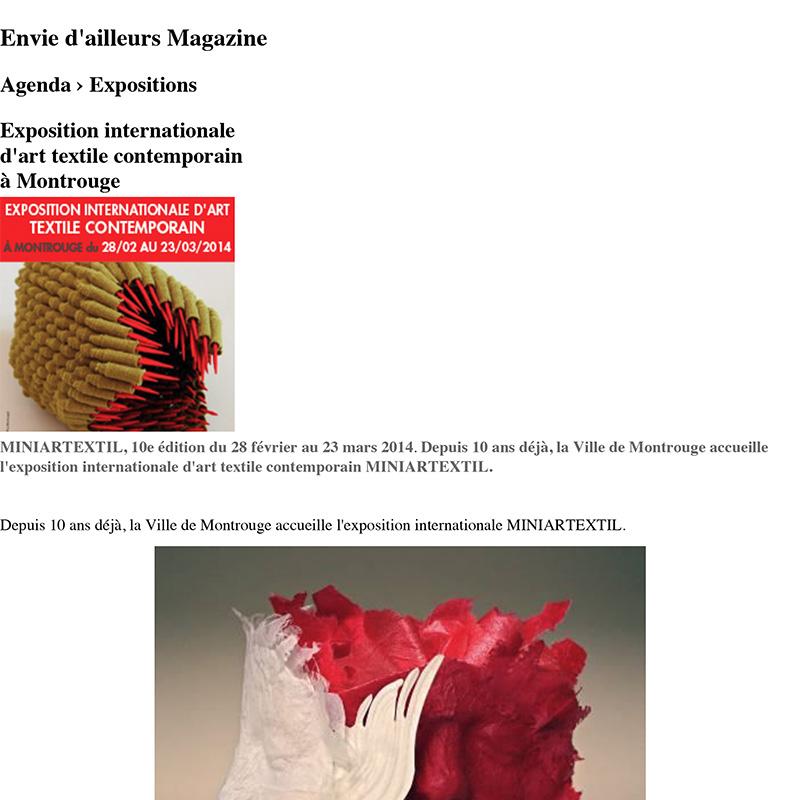 Exposition internationale d'art textile contemporain à
