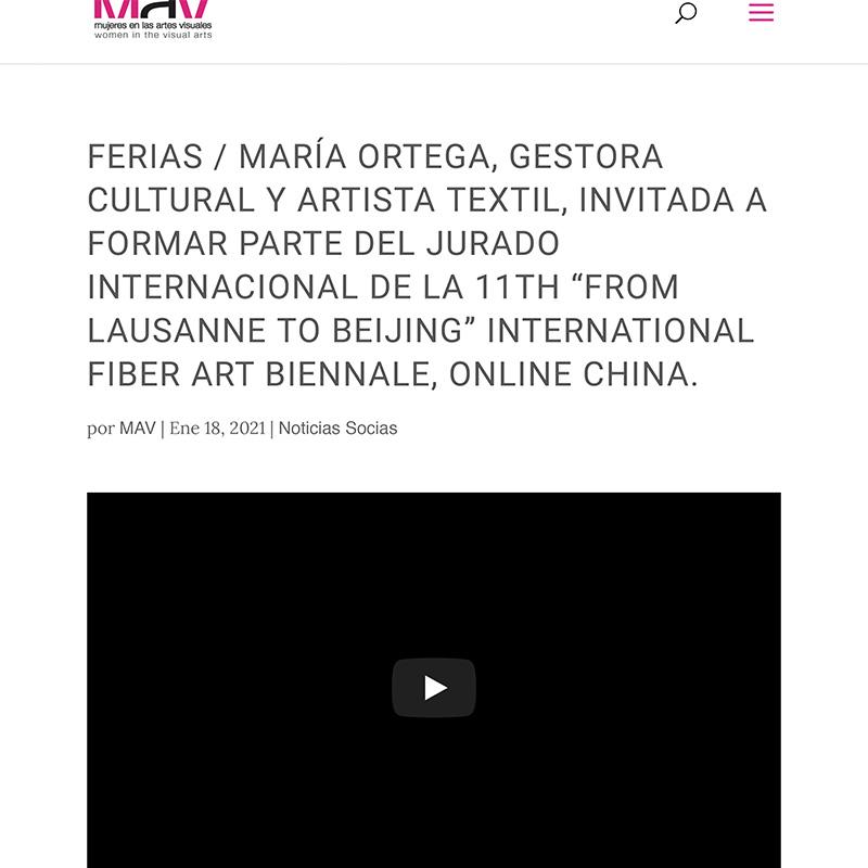 FERIAS MARÍA ORTEGA, GESTORA CULTURAL Y ARTISTA TEXTIL, INVITADA A FORMAR PARTE DEL JURADO INTERNA-1