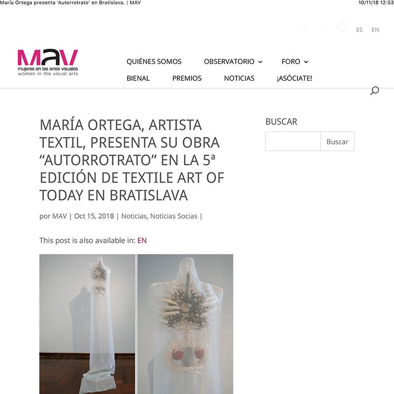 María Ortega presenta 'Autorrotrato' en Bratislava. | MAV
