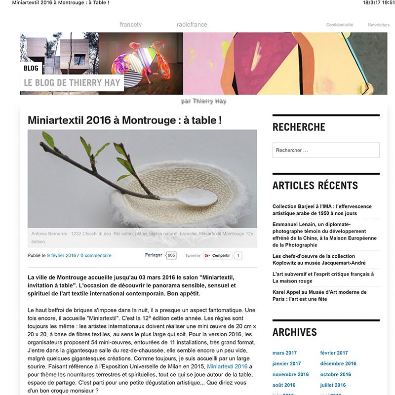 Miniartextil 2016 à Montrouge : à Table !