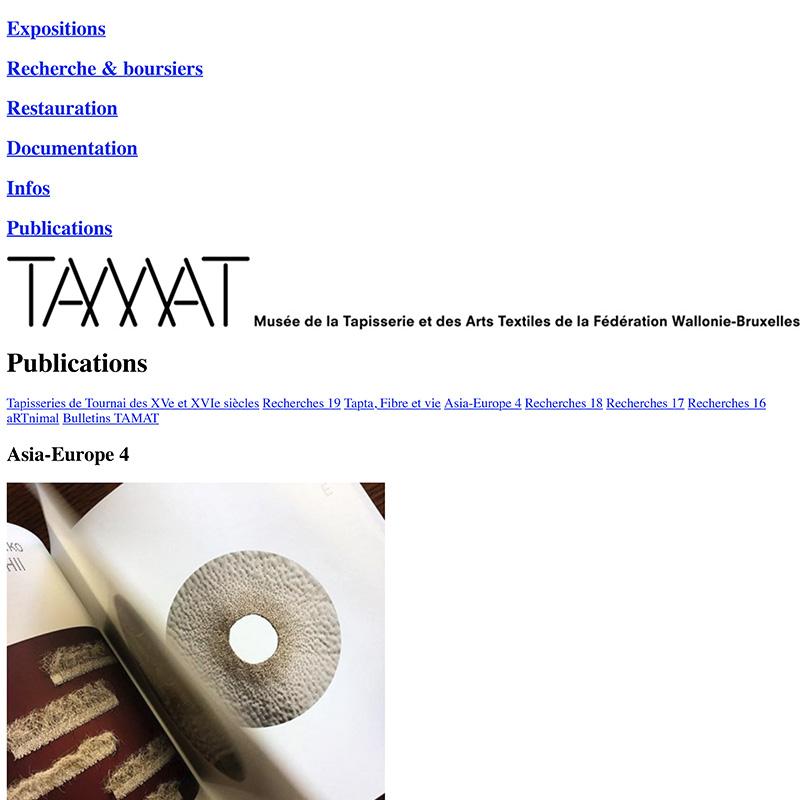 Publications - Asia-Europe 4 - Tamat - Musée de la Tapisserie et des Arts Textiles-1